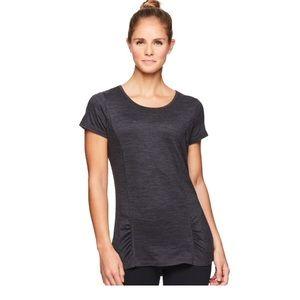 GAIAM Gray Energy Short Sleeve Top XL